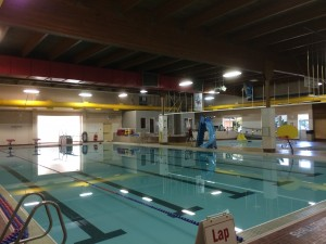 Swimmers at the Quesnel pool can clearly hear music and pages