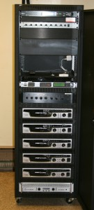 New five-foot amplifier rack (front)