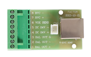 Factor  V-RVC-RJ45 Plate